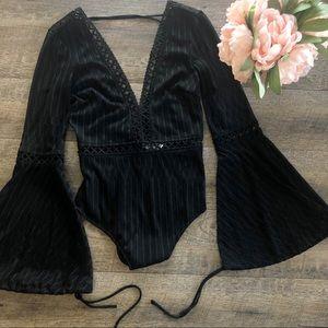 {Tiger Mist} Black Alaska Body Suit